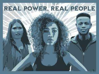 Gregg Deal, Real Power Real People Hand Drawn